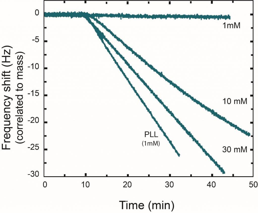 QCM-D表征纳米颗粒在二氧化硅表面的沉积